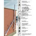 Схема сборки дымохода.  Дымоход снаружи здания, отводящий дым двух котлов