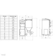Автоматический котел Koloss Auto Compact Duo (Колосс Авто Компакт Дуо) 65 кВт