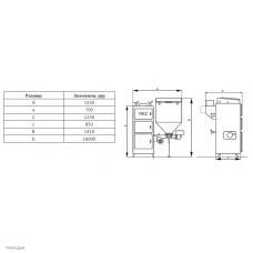 Автоматический твердотопливный котел ВСКЗ Эко 100 кВт
